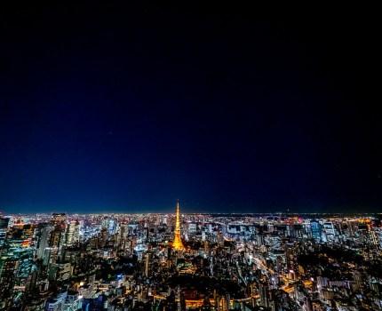 E-M1 MarkII+M.7-14mm F2.8 スカイデッキからの東京夜景と塩田千春展