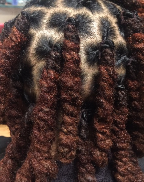 Pipe Cleaner Curls on Locs - Curlynugrowth.com