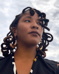 Curly Locs Style on Black Woman