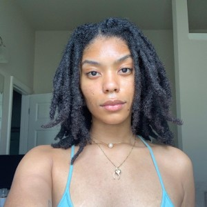 black woman with thick locs
