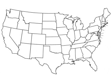 map blank printable states cities