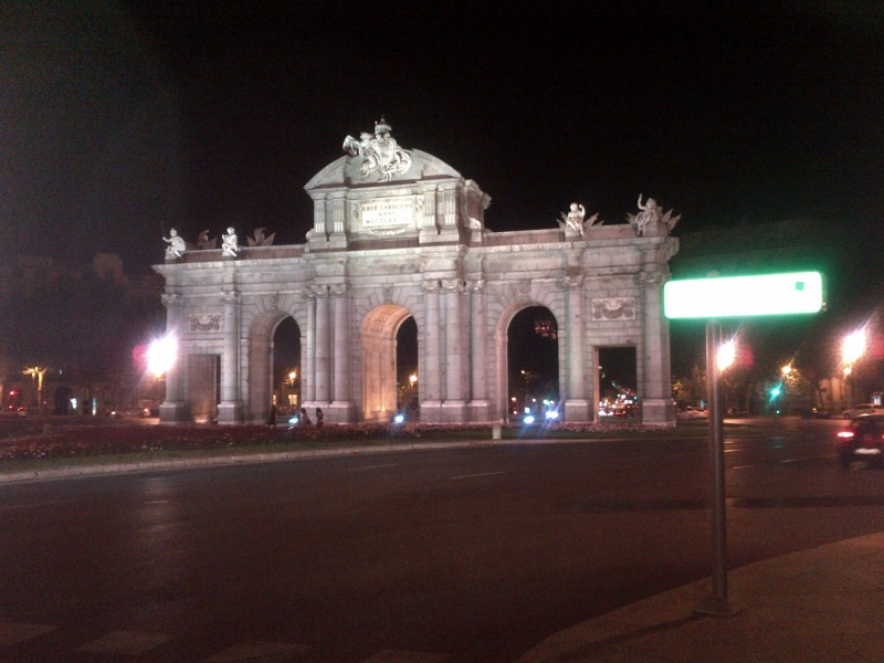 Puerta de Alcalá, at Plaza de la Independencia in Madrid - coincidentally my first picture in Spain.