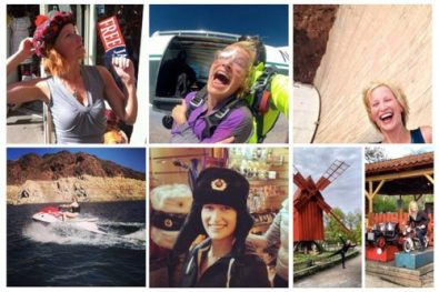 Kate Holmes traveling the world