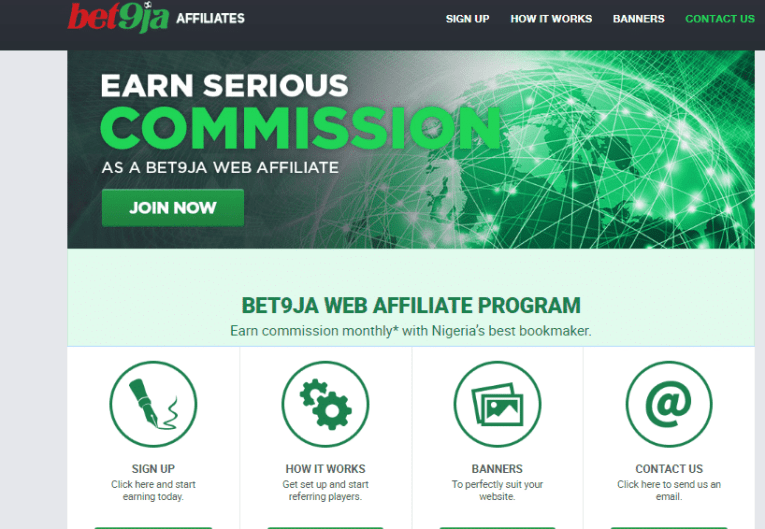 bet9ja affiliate marketing program in nigeria