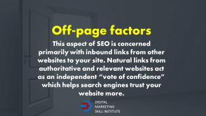 Off-page SEO Factor Definition