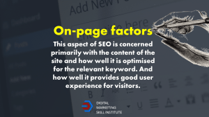 On-page SEO Factor Definition