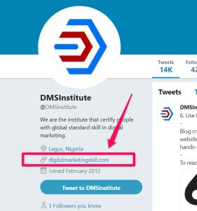 dmsinstitute twitter account