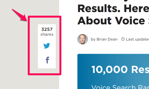 social proof social share count