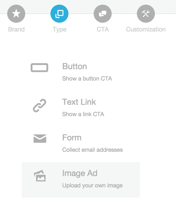 Select the Image type to create an Image Snip