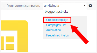 Create your first Campaign