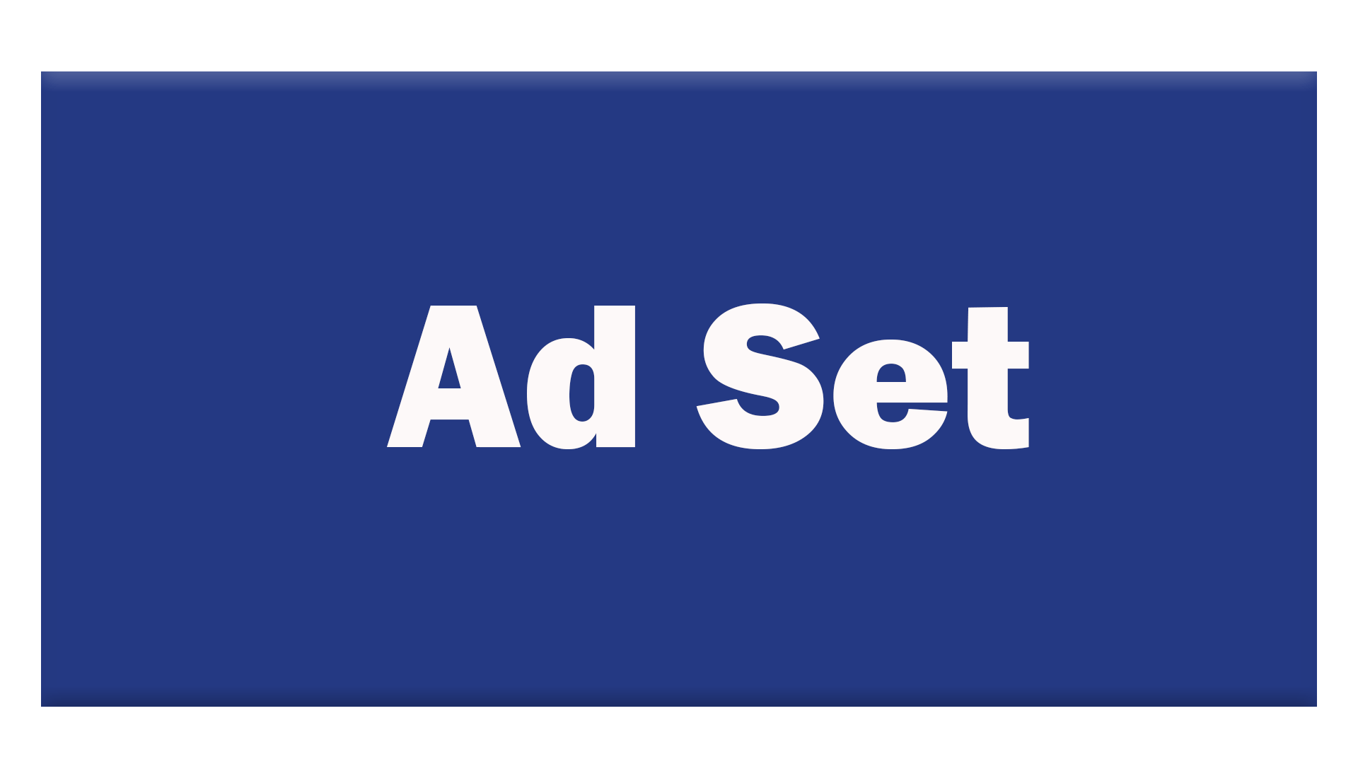 Facebook Ad Set