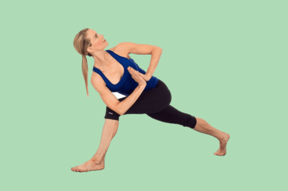 yoga poses for sciatica Twisted Lunge