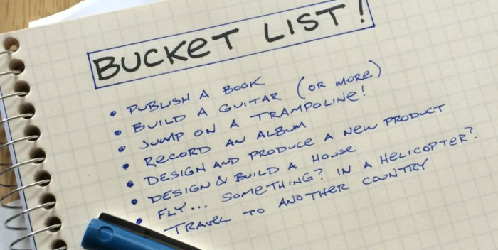 Book on Bucket List