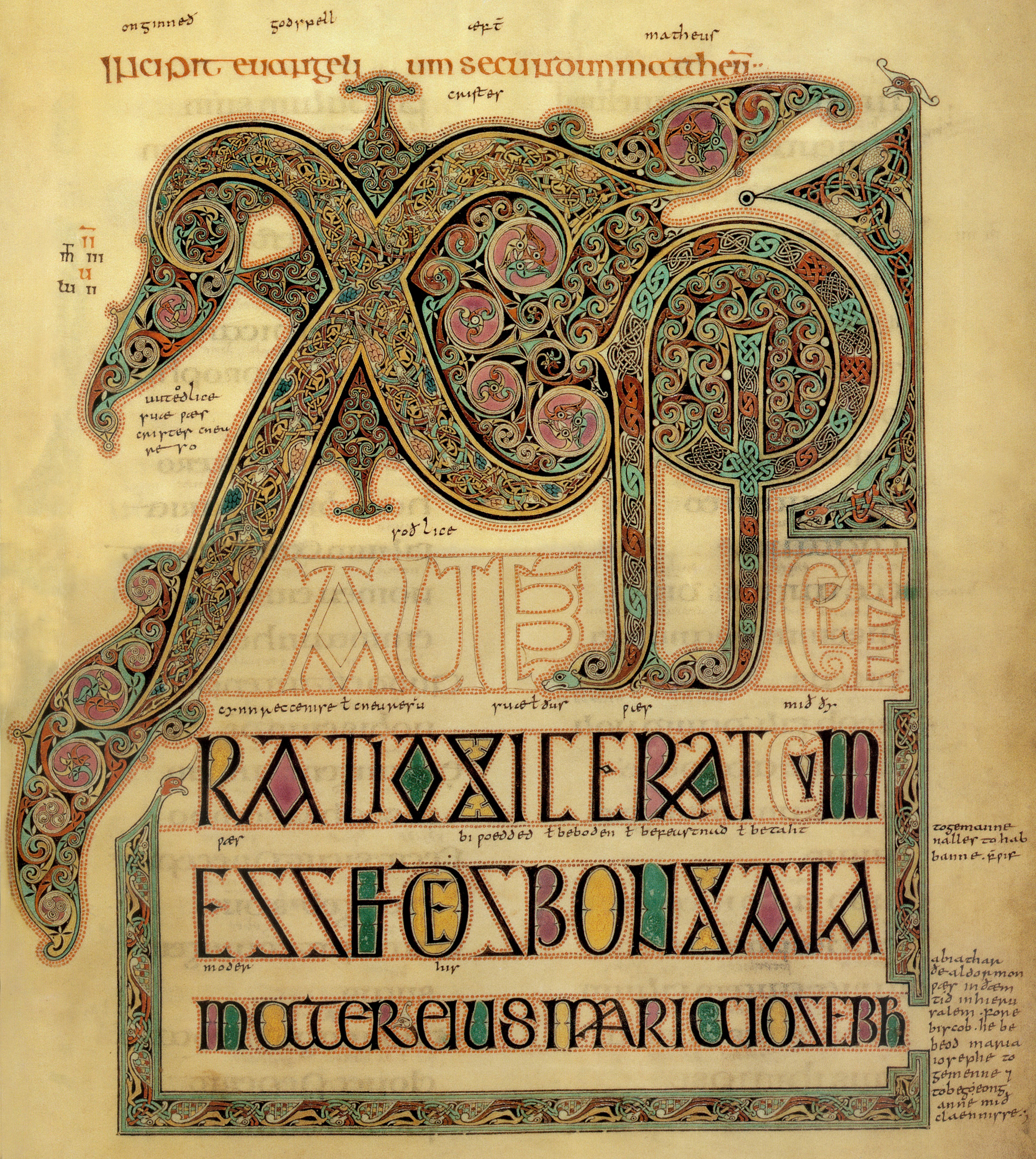 Xpi Autem Generatio The Book Of Kells And The Chi Rho Page Celtic