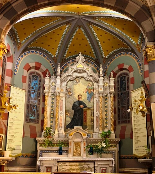 Side ALtar dedicated to Saint John Bosco