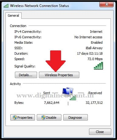 Wireless Network Connection Status
