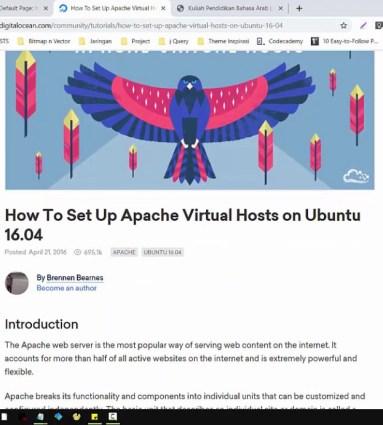 How we are setting up virtual host in Digital ocean platform ...
