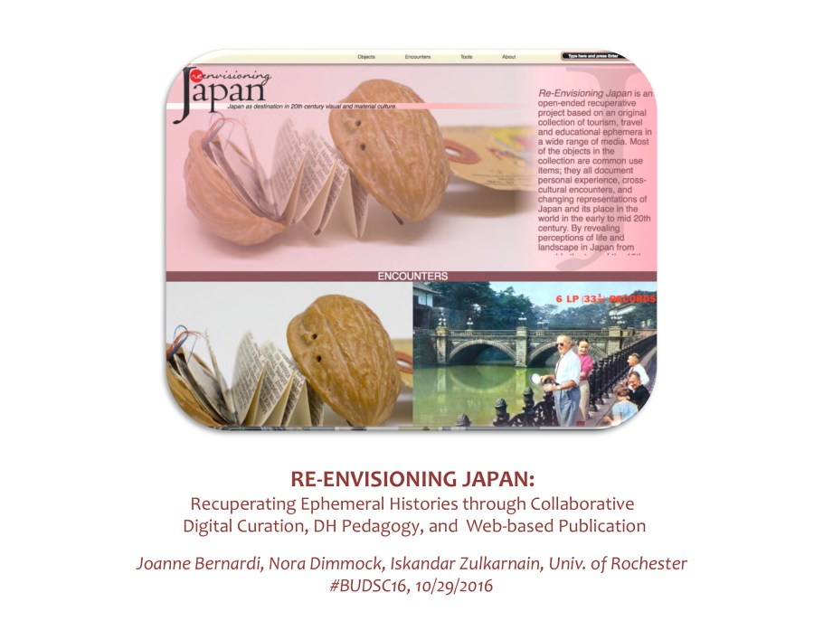 RE-ENVISIONING JAPAN: Recuperating Ephemeral Histories through