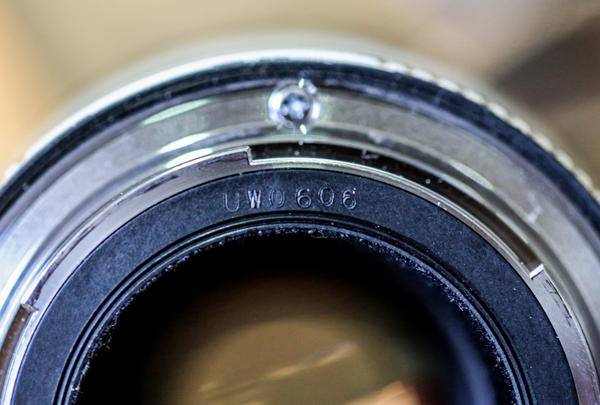 Canon Lens Date Codes