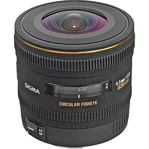 Sigma 4.5mm f:2.8 EX DC Lens