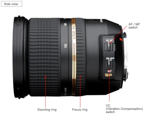 Tamron SP 24-70mm Di VC USD Lens_side