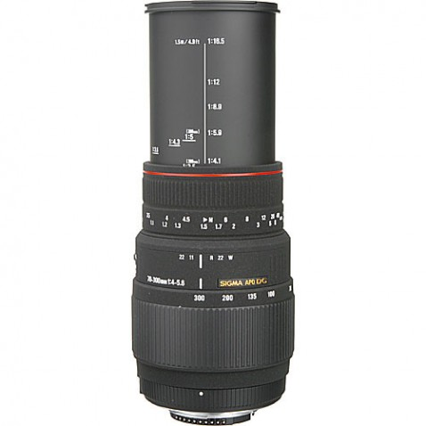 Sigma 70-300mm F:4-5.6 DG Macro Lens Extended