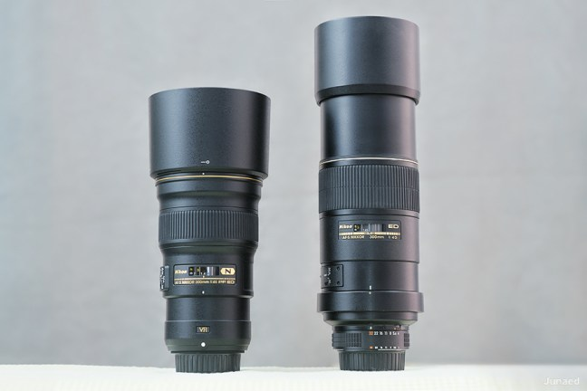 Nikkor 300mm f4E PF VR vs 300mm f4D -2