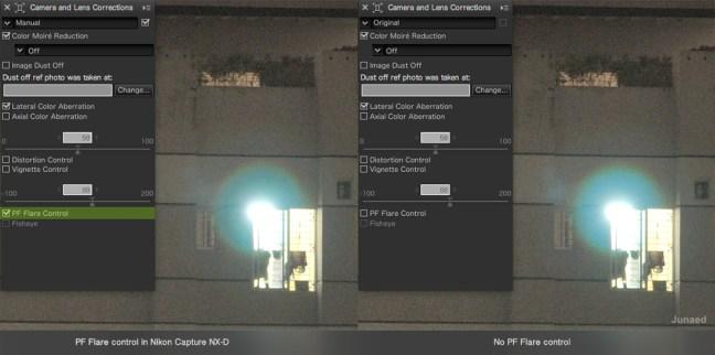 PF Flare Control in Nikon Capture NX-D