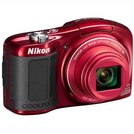 Nikon Coolpix L620 Digital Camera - Red