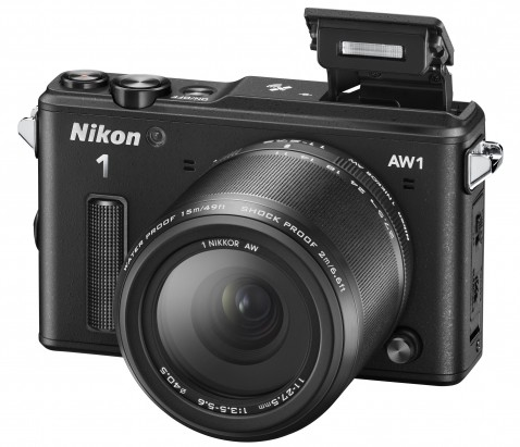 Nikon 1 AW1- Black-Flash