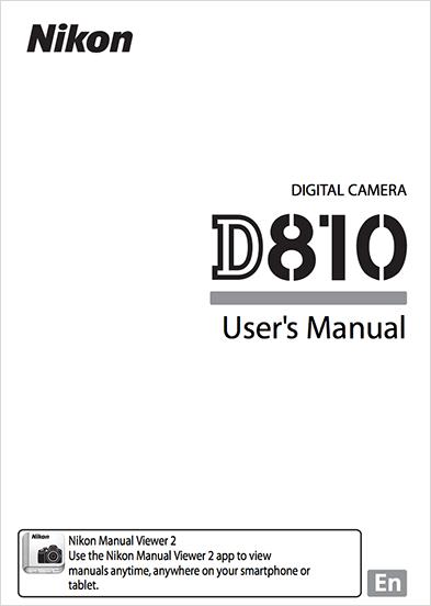 Nikon D810 Instruction or user's manual