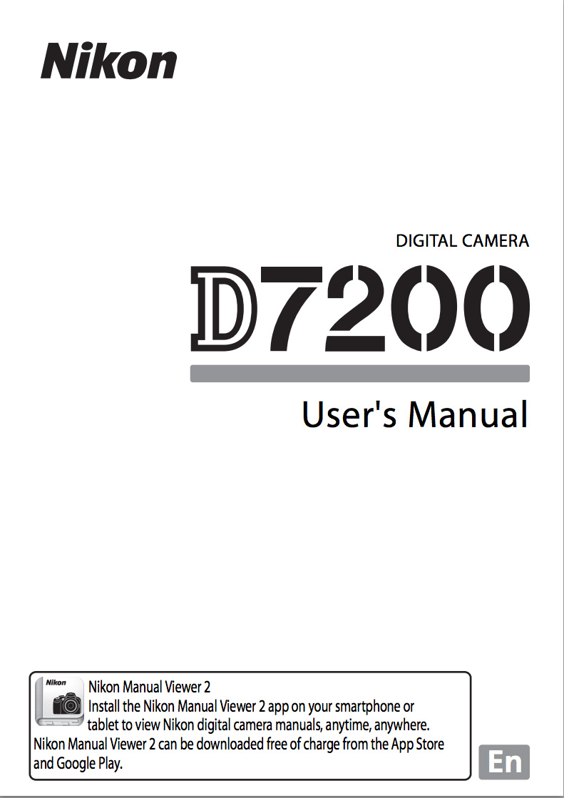 Nikon D7200 Instruction or User's manual