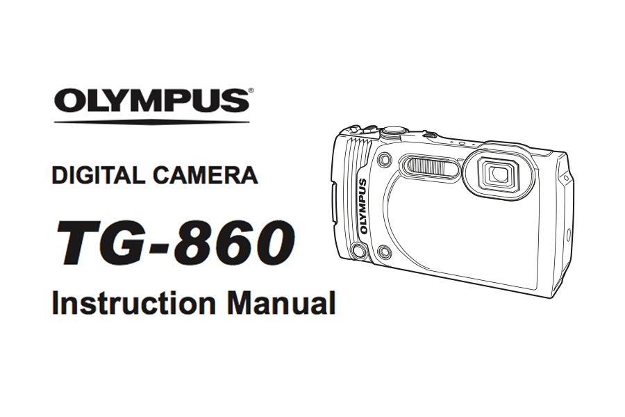 Olympus Stylus Tough TG-860 Instruction or User's Manual