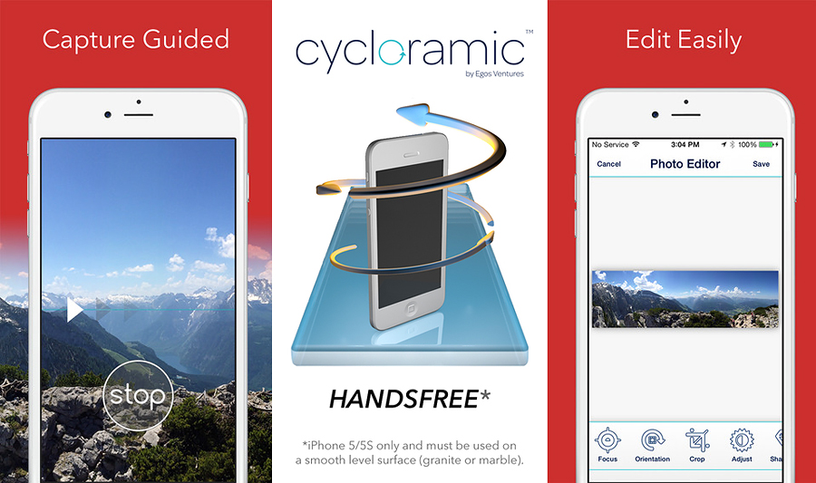 Cycloramic for iphone