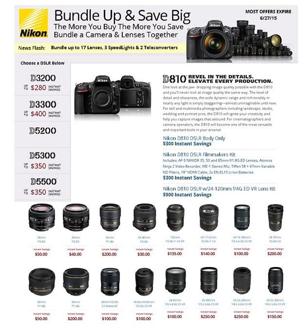 Nikon Bundle up & save Big deals 2015