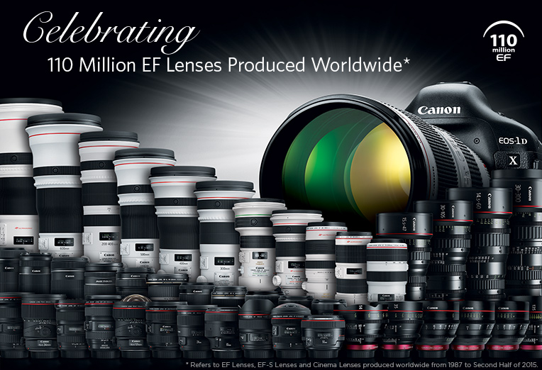 Canon 110 Million EF Lenses