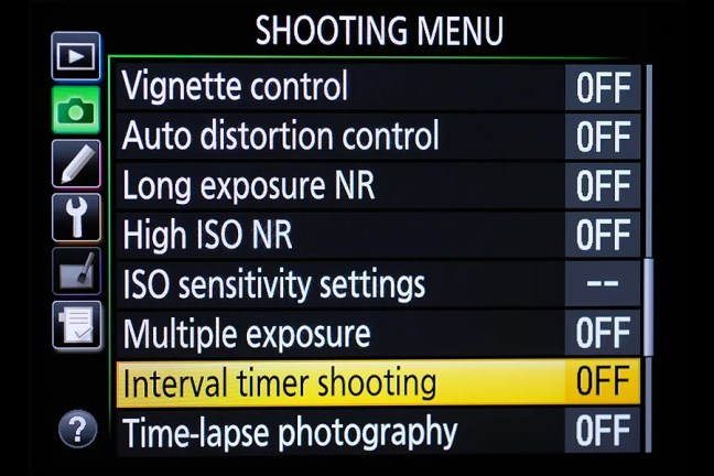 Nikon D810 Menu 01