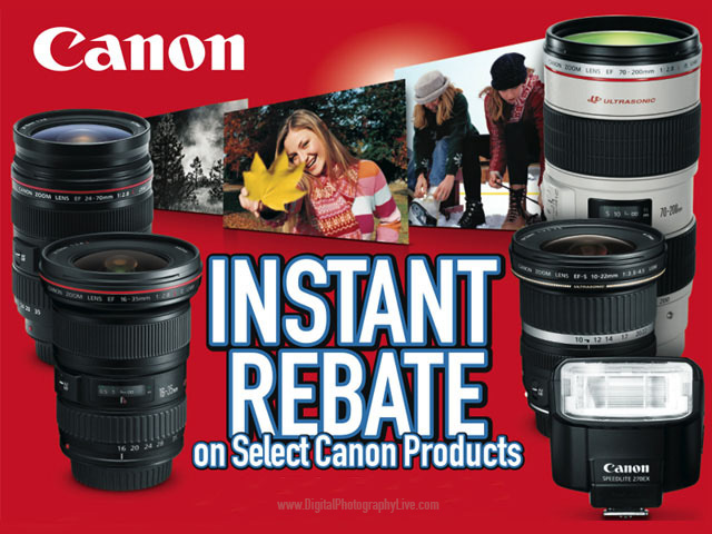 Canon Lens Mail-In Rebates 2016 - Digital Photography Live