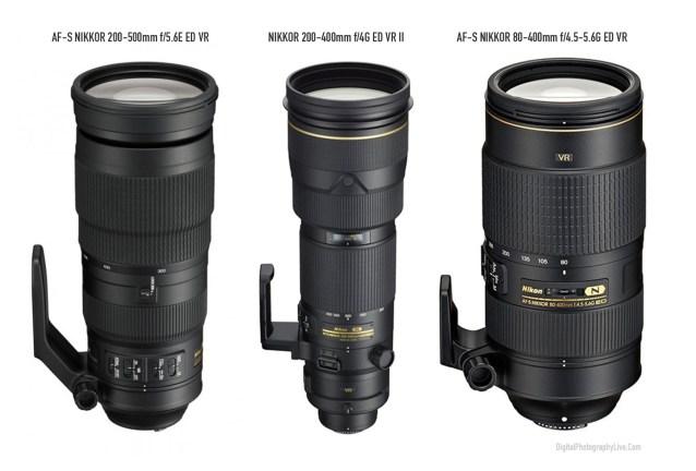 Nikon 200-500mm f:5.6E vs. 200-400mm f:4G vs. 80-400mm f:4.5-5.6G