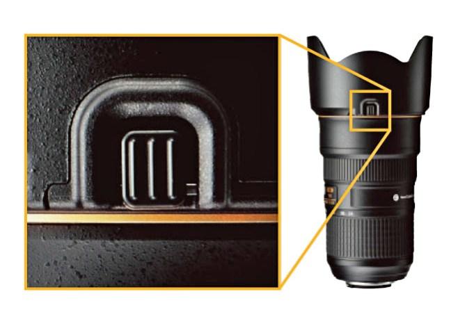Nikon AF-S NIKKOR 24-70mm f:2.8E ED VR Lens Improvement of Hood lock release button