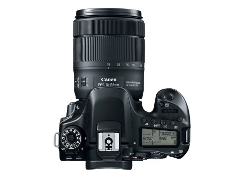 Canon EOS 80D - top
