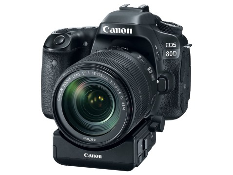 EOS 80D with optional power zoom adapter