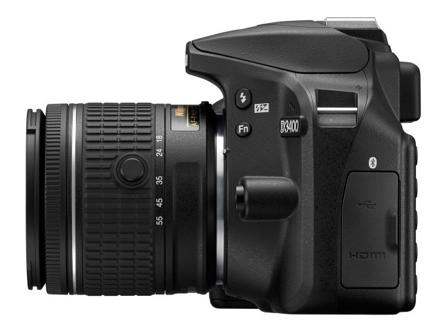 Nikon D3400 - side port