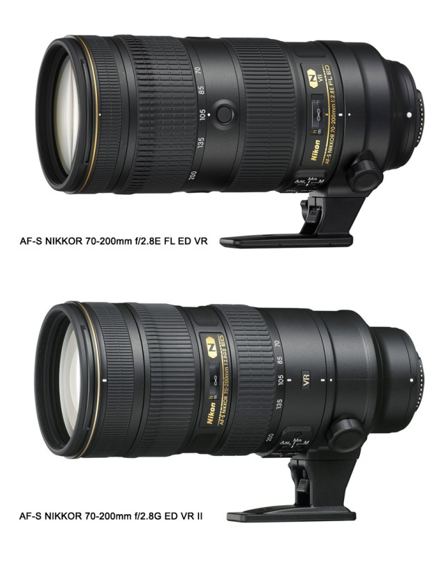 New Nikon AF-S 70-200mm f/2.8E FL ED VR vs 70-200mm f/2.8G ED VR II - Comparison