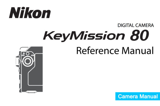 Nikon KeyMission 80 Instruction or User's Manual Available