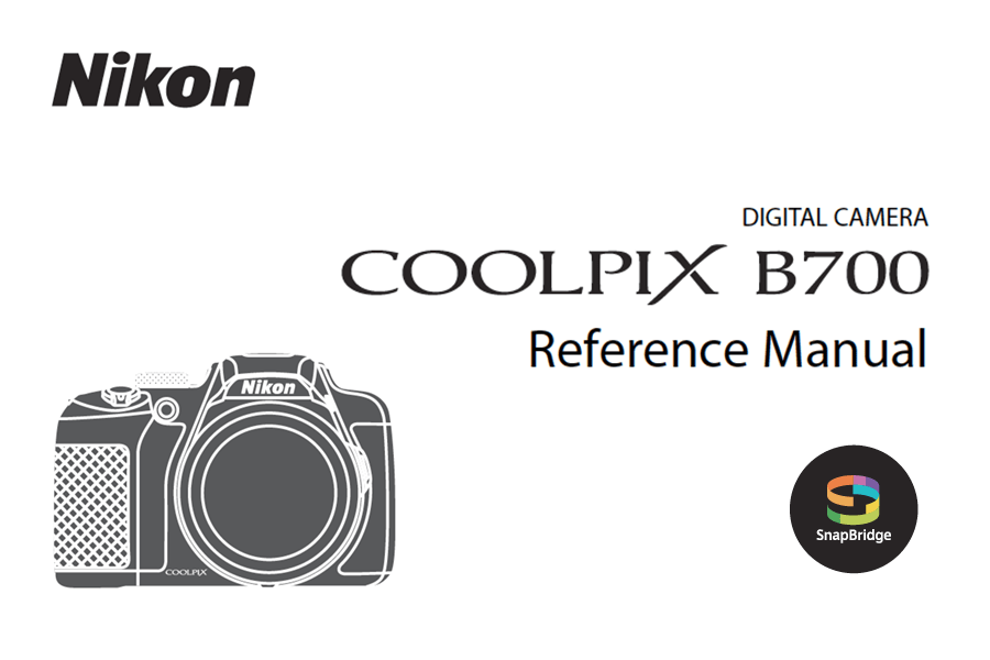 Nikon COOLPIX B700 Instruction or User's Manual Available