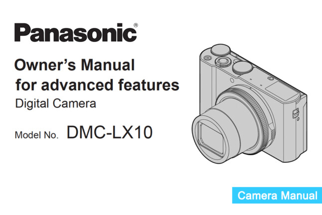 Panasonic Lumix DMC-LX10 Instruction or Owner's Manual