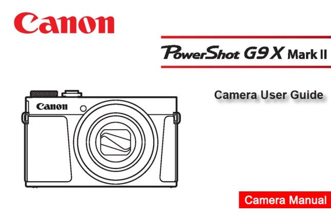 Canon PowerShot G9X MarkII Manual pdf