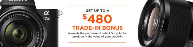 Sony Instant rebate January 2017