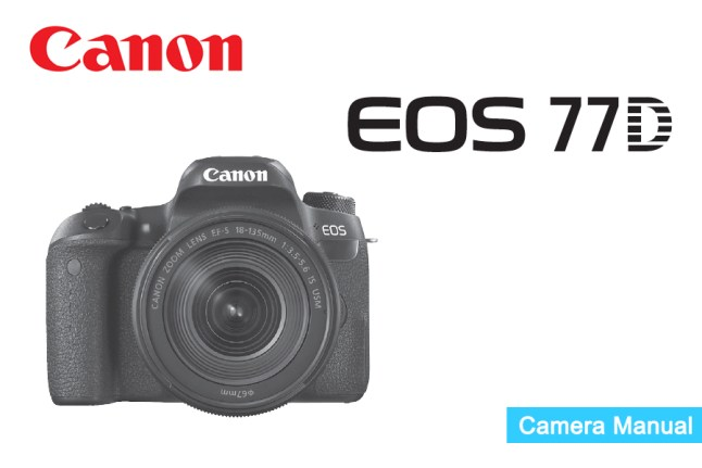 Canon EOS 77D Manual pdf